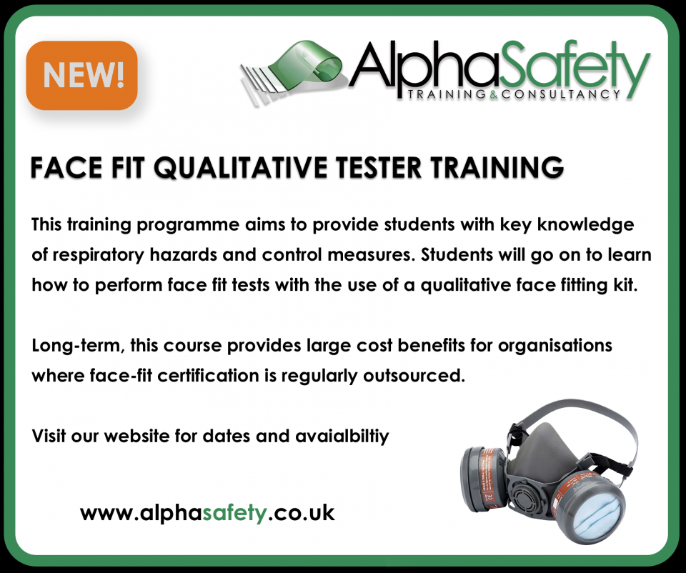 Alpha Safety Launch Face Fit Tester Course