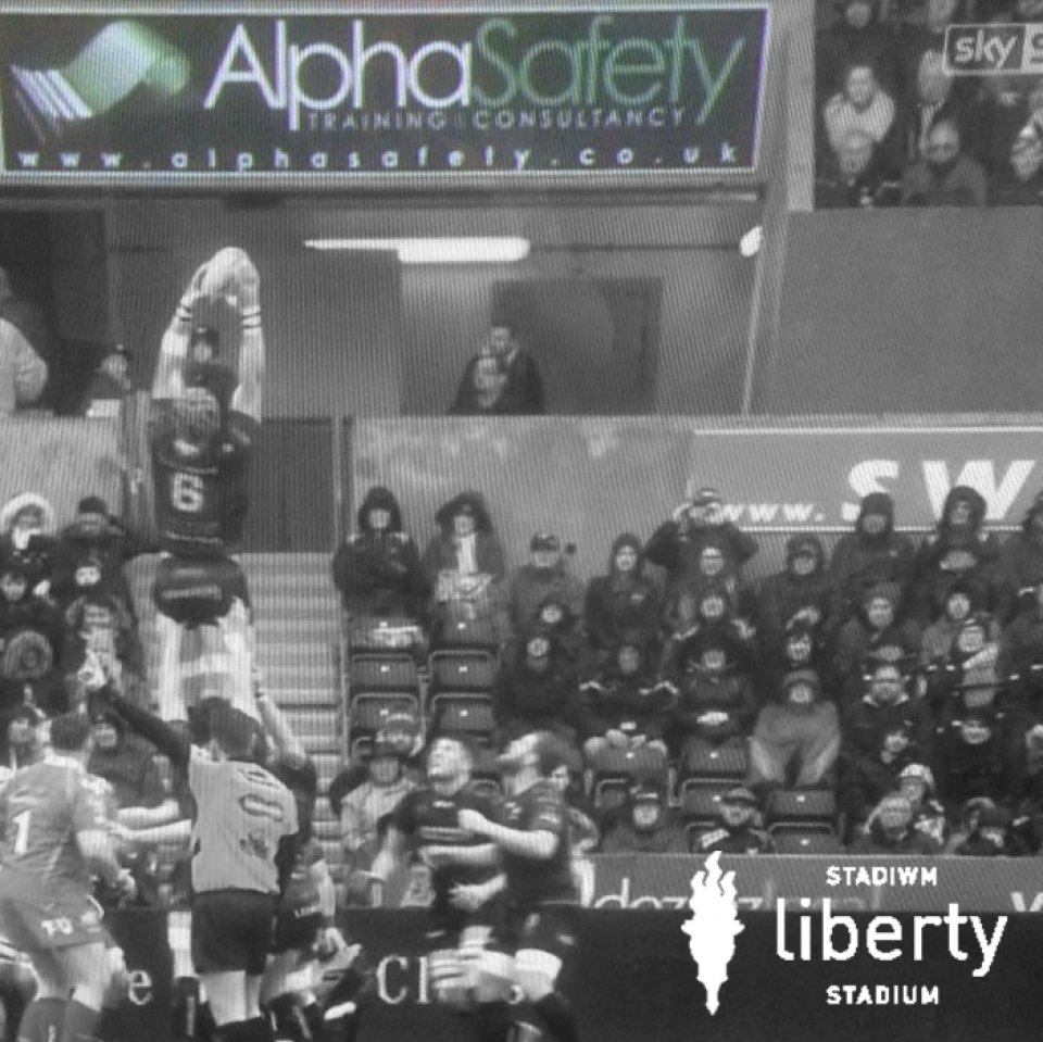 Alpha Advertising at Liberty Stadium makes first TV Appearance!