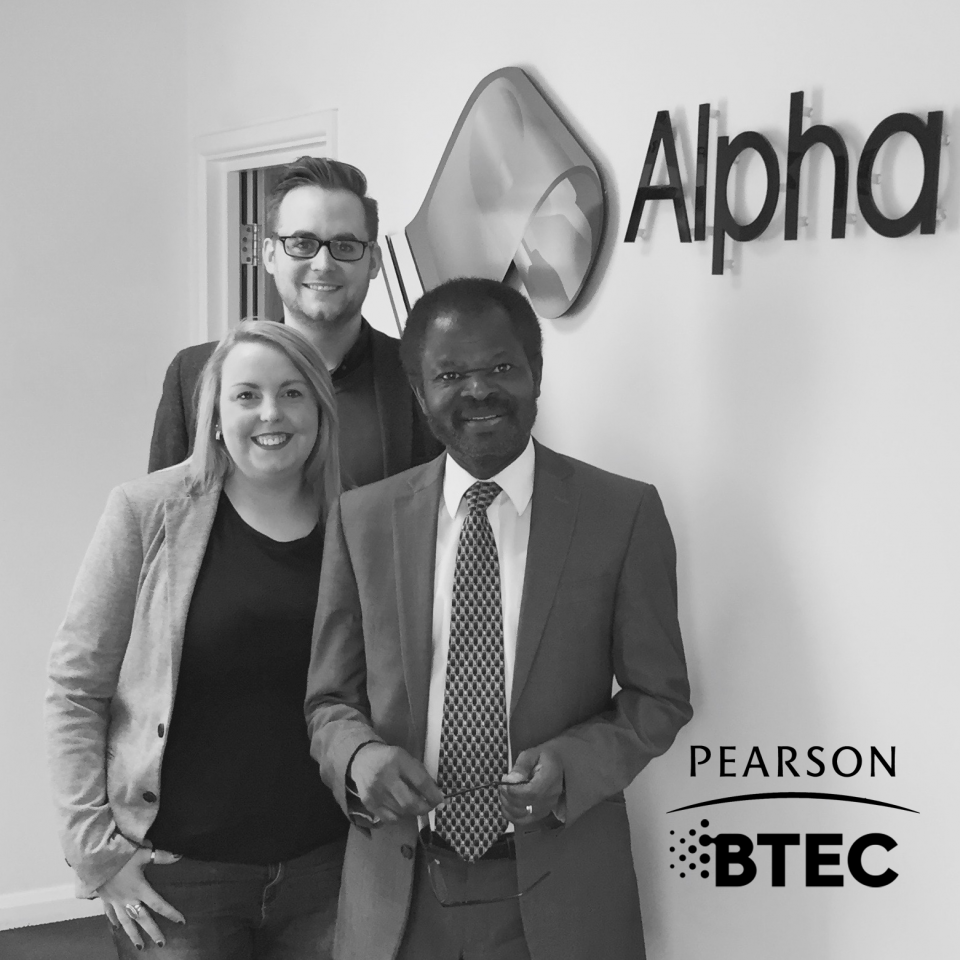 Alpha Welcome Glowing Review from Pearson
